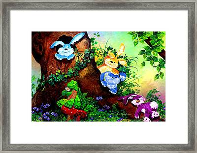 Furry Forest Friends Framed Print by Hanne Lore Koehler