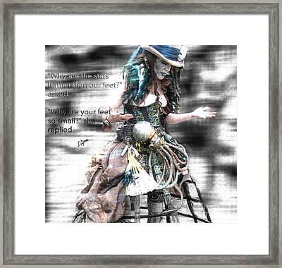 Further Than Our Feet  Framed Print by Steven Digman