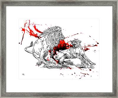 Fury Framed Print by Lawrence O'Toole