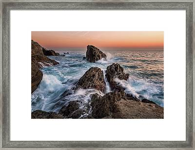 Fury Of The Sea Framed Print