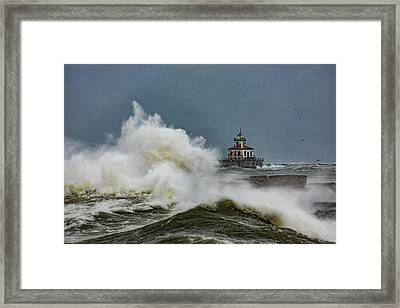 Framed Print featuring the photograph Fury On The Lake by Everet Regal