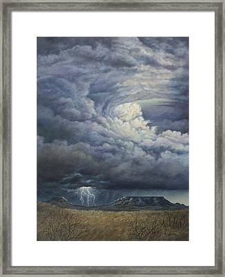 Fury Over Square Butte Framed Print by Kim Lockman