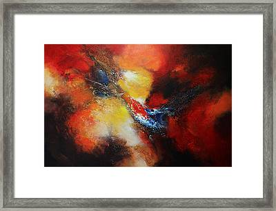 Framed Print featuring the painting Fury by Patricia Lintner