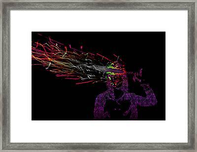 Fused Series - Fingerbang Framed Print by Erik Hovind