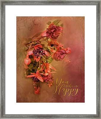 Fushia Bouquet Framed Print