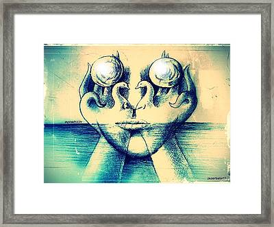 Fusion Of Soul To Body Framed Print by Paulo Zerbato