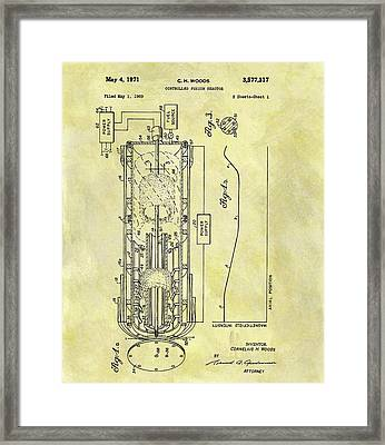Fusion Reactor Patent Framed Print by Dan Sproul
