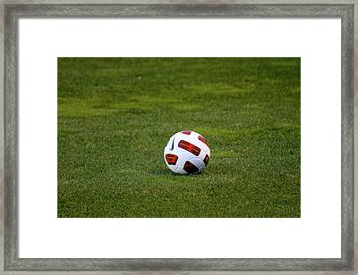 Framed Print featuring the photograph Futbol by Laddie Halupa