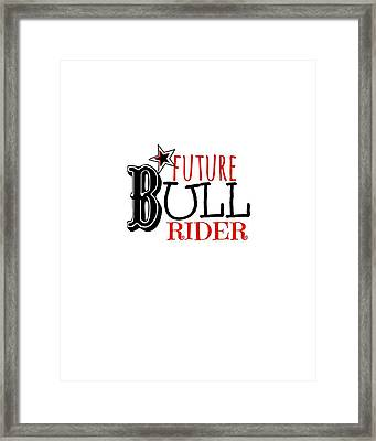 Future Bull Rider Framed Print by Chastity Hoff