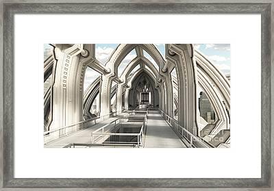 Future City Hall Framed Print