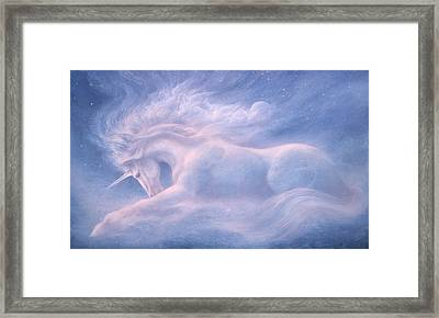 Future Dreaming Unicorn Framed Print by Jack Shalatain