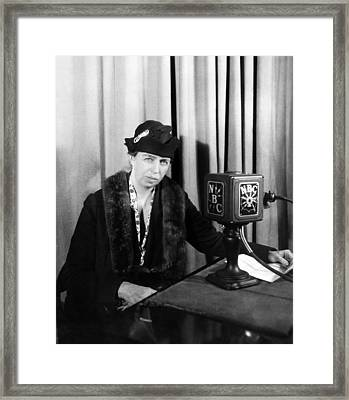 Future First Lady Eleanor Roosevelt Framed Print