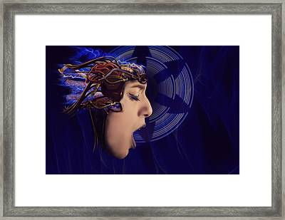 Future Hair Framed Print by Nathan Wright