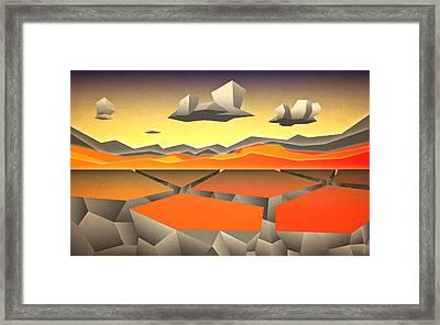 Future Horizon Framed Print by Milton Thompson