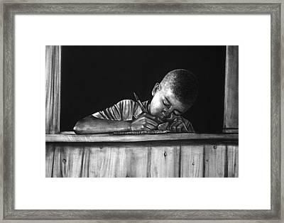 Future Journalist Framed Print by Curtis James