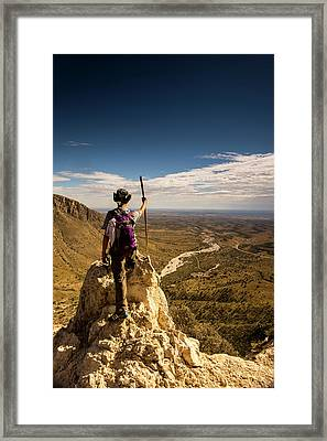 Future Leader Framed Print by Aaron Bedell