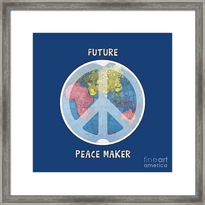Future Peace Maker Framed Print