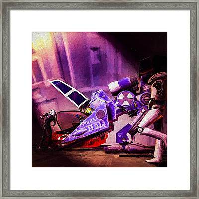 Future Police Framed Print by Bob Orsillo
