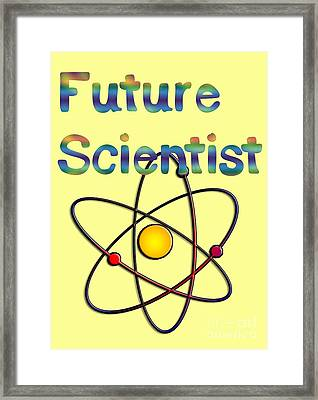 Future Scientist For Kids Clothes  Framed Print by Humorous Quotes