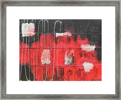 Framed Print featuring the painting Future by Sladjana Lazarevic