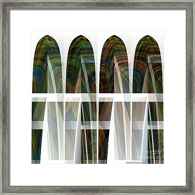 Future Towers Framed Print