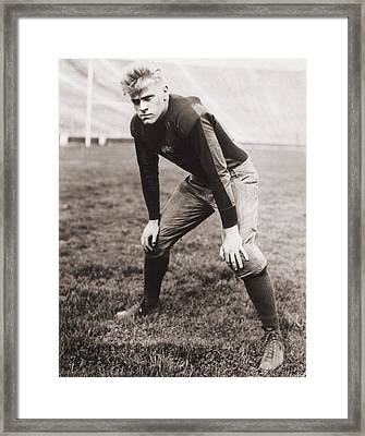 Future Us President Gerald Ford Played Framed Print