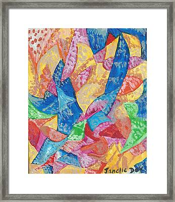 Framed Print featuring the painting Futurism by Janelle Dey