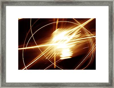 Futuristic Background Framed Print by Les Cunliffe