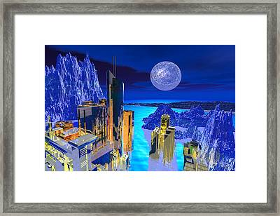 Futuristic City Framed Print