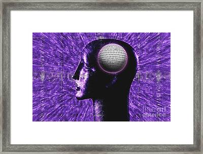 Futuristic Communications Framed Print by George Mattei