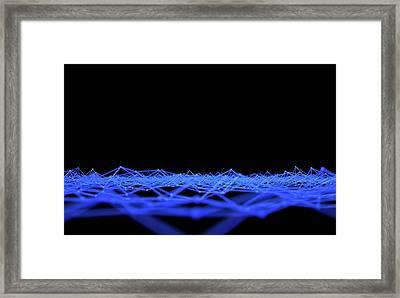 Futuristic Plexis Background Framed Print