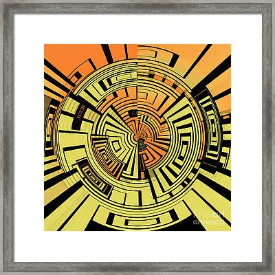 Futuristic Tech Abstract Framed Print by Gaspar Avila