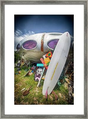 Framed Print featuring the photograph Futuro House 2 by Alan Raasch