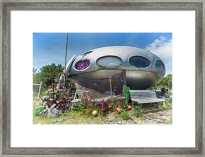 Framed Print featuring the photograph Futuro House by Alan Raasch