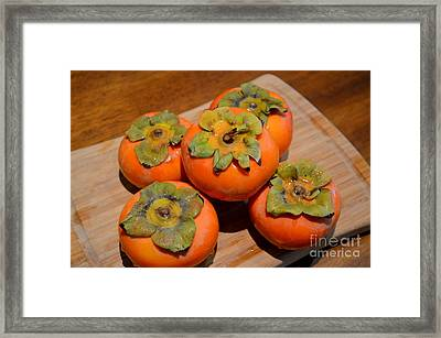 Fuyu Persimmons Ready To Slice Framed Print by Mary Deal