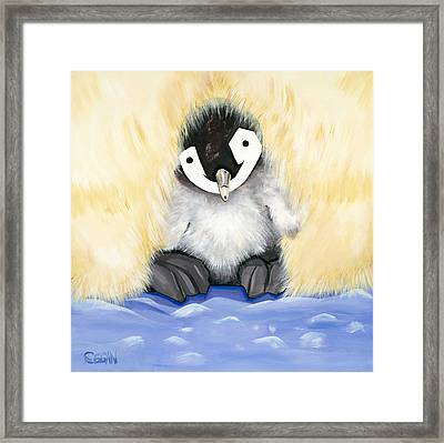 Fuzzy Baby Framed Print by Michelle  Eggan