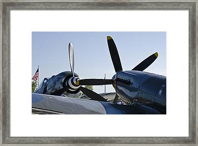 Fw190 And Spitfire Framed Print