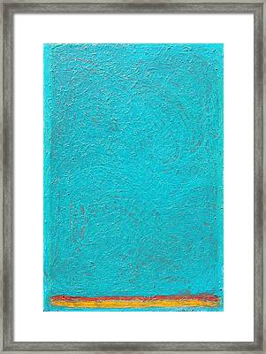 Framed Print featuring the painting Color Order No. 88 24 X 36 Oil On Canvas 2016 by Radoslaw Zipper