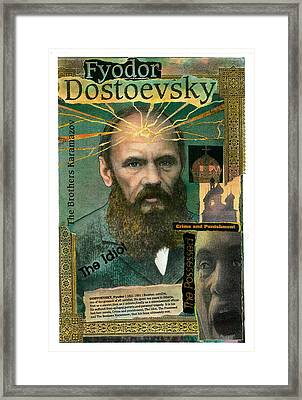 Framed Print featuring the mixed media Fyodor Dostoevsky by John Dyess