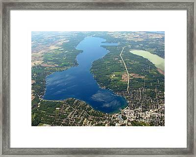 G-028 Geneva Lake And Como Lake Wisconsin Framed Print