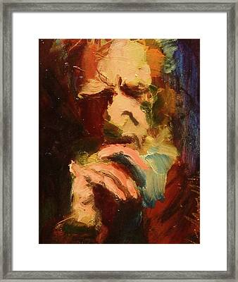 Framed Print featuring the painting G B S by Les Leffingwell