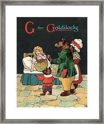 G For Goldilocks Framed Print