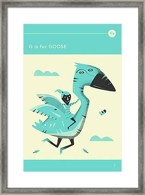 G Is For Goose Framed Print