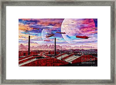 G-town Framed Print by Napo Bonaparte