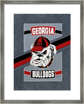 Bulldogs Poster T-shirt Framed Print