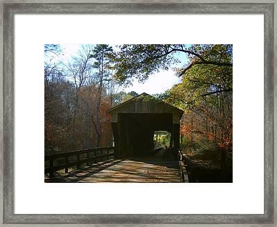 Ga. Covered Bridge Framed Print by Navarre Photos