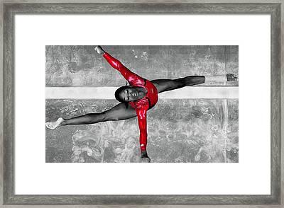 Gabby Douglas Framed Print by Brian Reaves
