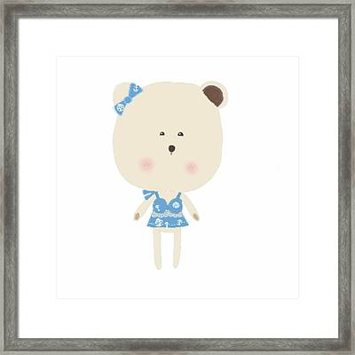 Gabby The Teddy Framed Print
