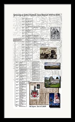Genealogy Mixed Media Framed Prints