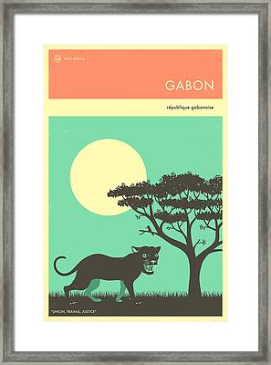 Gabon Travel Poster Framed Print